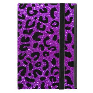 Modelo púrpura de neón de la impresión del guepard iPad mini funda