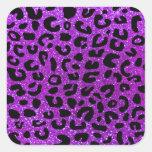 Modelo púrpura de neón de la impresión del colcomanias cuadradas personalizadas