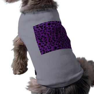 Modelo púrpura de neón de la impresión del playera sin mangas para perro