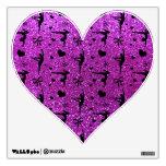 Modelo púrpura de neón del brillo de la gimnasia