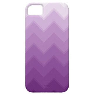 Modelo púrpura de Ombre Chevron iPhone 5 Cárcasa
