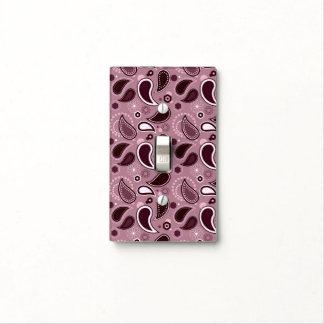 Modelo púrpura de Paisley con el monograma Tapa Para Interruptor