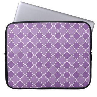 Modelo púrpura de Quatrefoil del ordenador portáti Funda Computadora