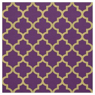 Modelo púrpura de Quatrefoil el | del marroquí del Telas