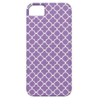 Modelo púrpura de Quatrefoil iPhone 5 Fundas