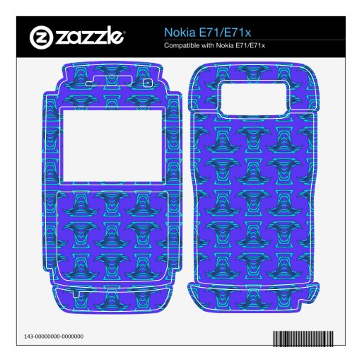Modelo púrpura de Tiki de la turquesa Nokia E71x Skin