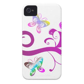 modelo púrpura del ala del rosa de la primavera de funda para iPhone 4 de Case-Mate