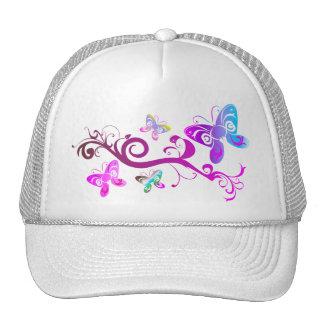 modelo púrpura del ala del rosa de la primavera de gorra