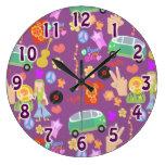 Modelo púrpura del amor de los años 60 maravilloso relojes