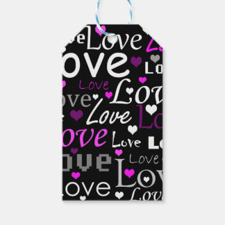 Modelo púrpura del amor etiquetas para regalos