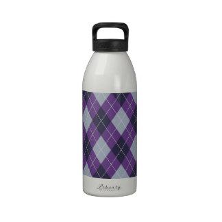 Modelo púrpura del argyle botella de agua