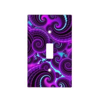 Modelo púrpura del arte del fractal del remolino placa para interruptor