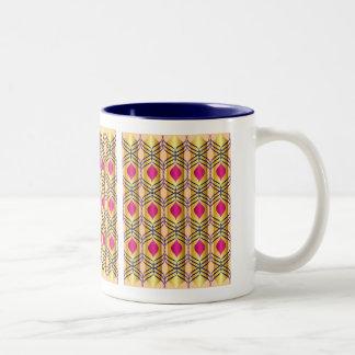 Modelo púrpura, del azul y del oro taza de café de dos colores