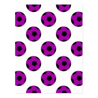 Modelo púrpura del balón de fútbol postal
