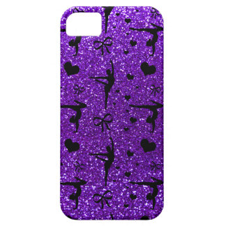 Modelo púrpura del brillo de la gimnasia del añil iPhone 5 Case-Mate protectores