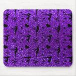 Modelo púrpura del brillo de la gimnasia del añil alfombrilla de ratón