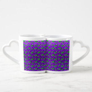 Modelo púrpura del brillo de la tortuga del añil tazas amorosas