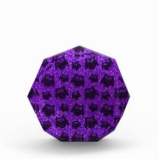 Modelo púrpura del brillo del búho del añil