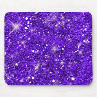 Modelo púrpura del brillo alfombrilla de ratón