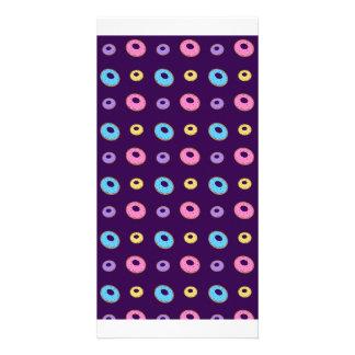 modelo púrpura del buñuelo tarjetas fotográficas