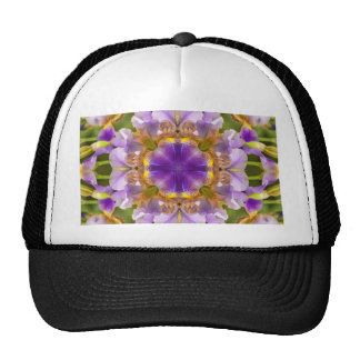 Modelo púrpura del caleidoscopio del iris gorra