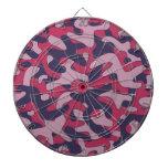 Modelo púrpura del camuflaje tablero de dardos