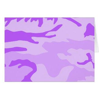 Modelo púrpura del camuflaje tarjeta pequeña