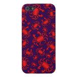 Modelo púrpura del cangrejo iPhone 5 protector