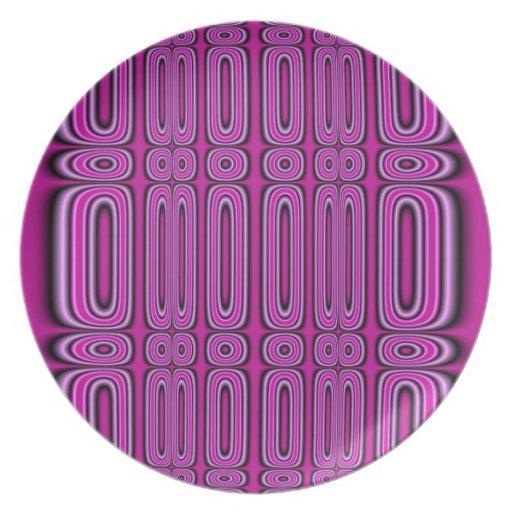 Modelo púrpura del círculo platos para fiestas