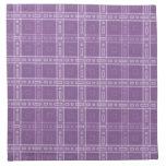 Modelo púrpura del control servilleta de papel