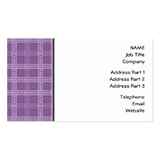 Modelo púrpura del control tarjetas de visita