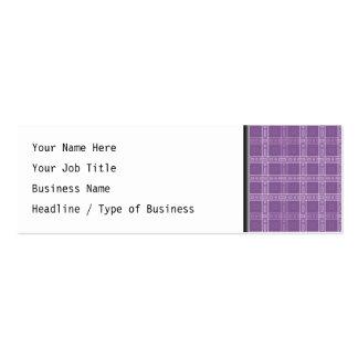 Modelo púrpura del control tarjetas de visita mini