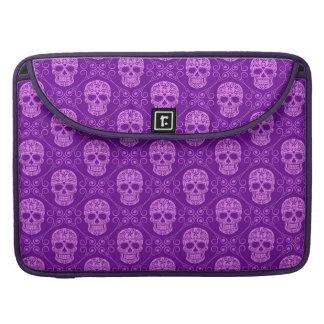 Modelo púrpura del cráneo del azúcar fundas macbook pro