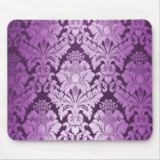 Modelo púrpura del damasco alfombrilla de ratones