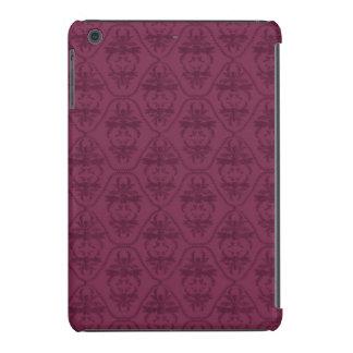 Modelo púrpura del damasco de Borgoña del vintage Fundas De iPad Mini