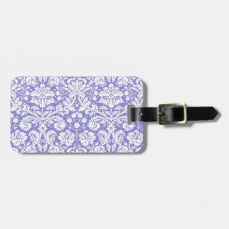 Modelo púrpura del damasco de la lila etiqueta para equipaje