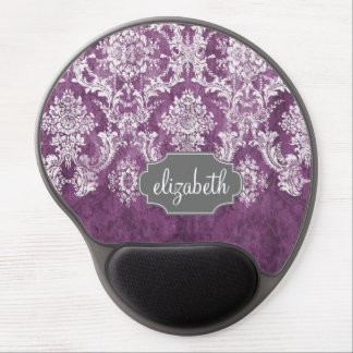 Modelo púrpura del damasco del Grunge del ciruelo Alfombrilla Gel