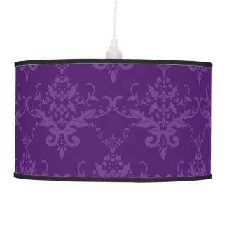 Modelo púrpura del damasco lámpara de techo