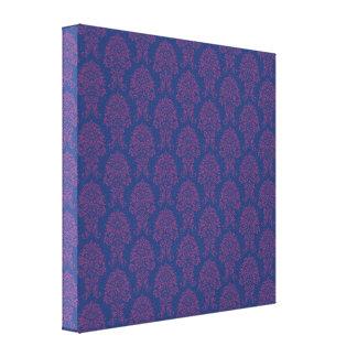 Modelo púrpura del damasco impresiones en lienzo estiradas