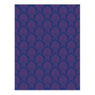 Modelo púrpura del damasco postal