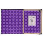 Modelo púrpura del diamante iPad fundas