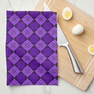 Modelo púrpura del diamante toallas de cocina
