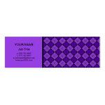 Modelo púrpura del diamante plantilla de tarjeta personal