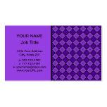 Modelo púrpura del diamante tarjeta de visita