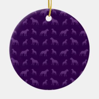 Modelo púrpura del dogo adorno