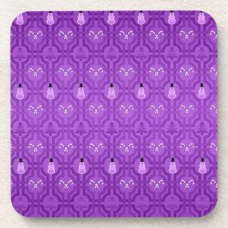 Modelo púrpura del enrejado de los muñecos de posavasos de bebida