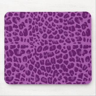 Modelo púrpura del estampado leopardo de la lila tapete de ratones