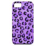 Modelo púrpura del estampado leopardo iPhone 5 Case-Mate funda