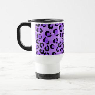 Modelo púrpura del estampado leopardo taza de viaje de acero inoxidable