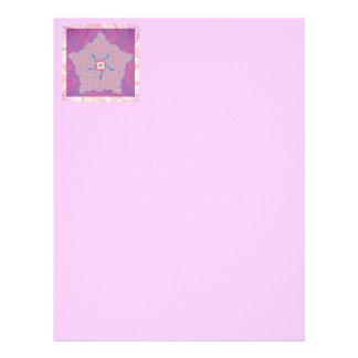 Modelo púrpura del fractal de la estrella plantillas de membrete